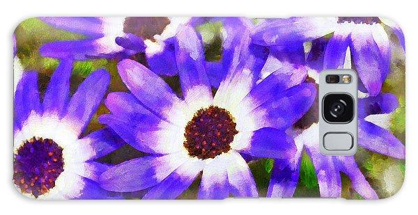 Purple Flowers Galaxy Case