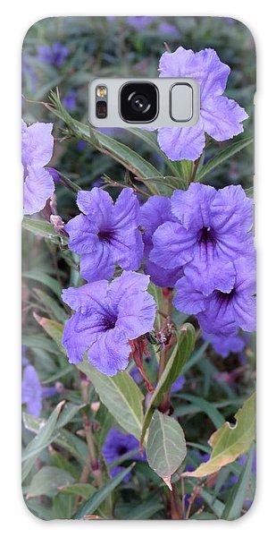 Purple Flowers Galaxy Case by Laurel Powell