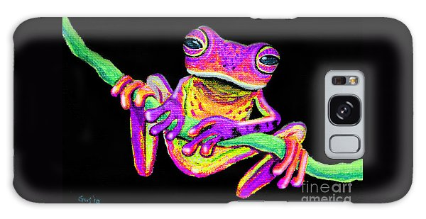 Purple Frog On A Vine Galaxy Case by Nick Gustafson