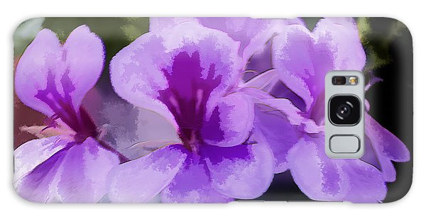 Purple Geraniums  Galaxy Case