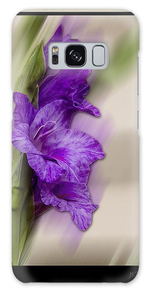 Purple Gladiolus Galaxy Case by Patti Deters