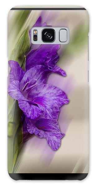 Purple Gladiolus Galaxy Case