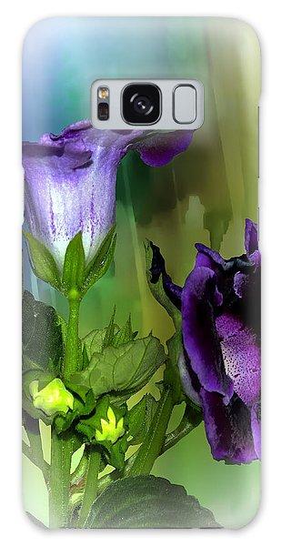 Purple Gloxinia II Galaxy Case by Judy  Johnson