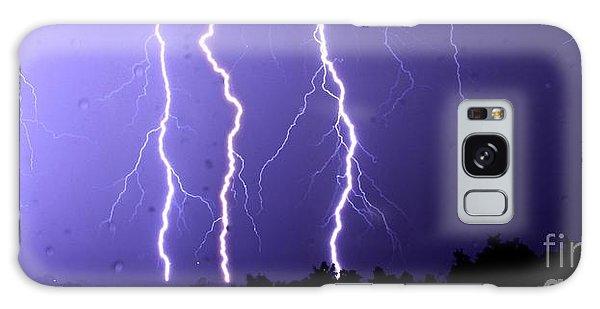 Purple Rain Lightning Galaxy Case