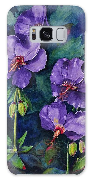 Purple Hibiscus Galaxy Case