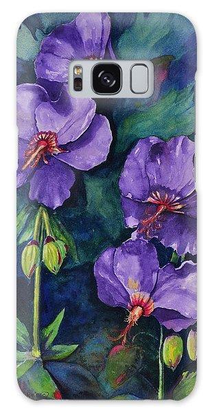 Purple Hibiscus Galaxy Case