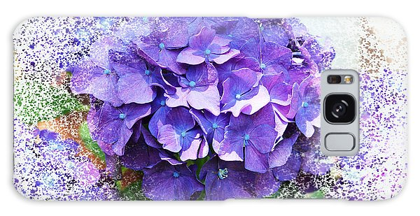 Purple Hydrangea Abstract Galaxy Case by Judy Palkimas