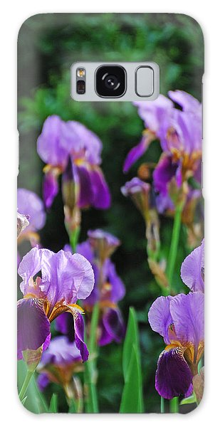 Purple Iris Bliss Galaxy Case