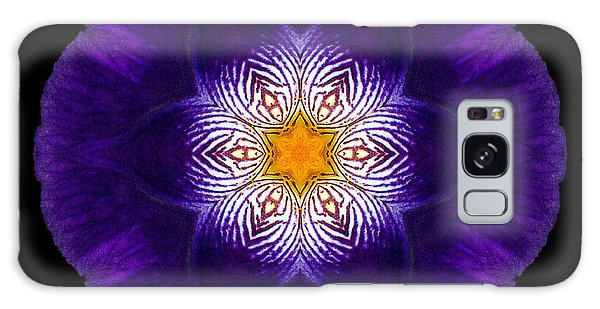 Purple Iris II Flower Mandala Galaxy Case