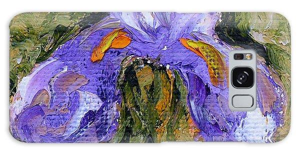 Purple Iris2 Galaxy Case