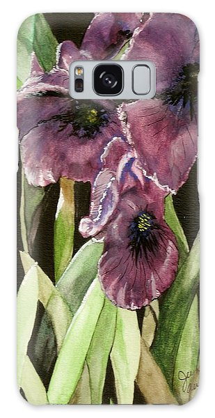 Purple Irises Galaxy Case