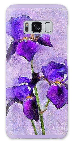 Purple Irises - Painted Galaxy Case