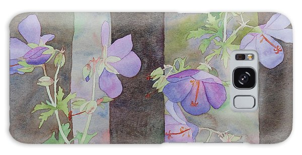 Purple Ivy Geranium Galaxy Case