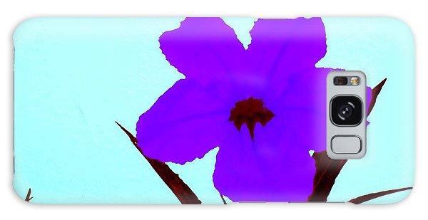 Purple Jack Flower Galaxy Case