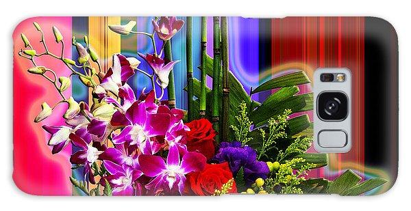 Purple Lady Flowers Galaxy Case