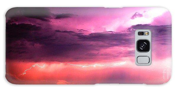 Purple Lightning Panorama Galaxy Case