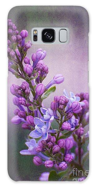 Purple Lilacs Galaxy Case by Bianca Nadeau