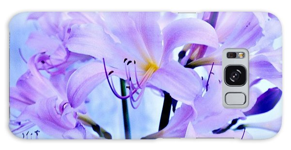 Purple Lily Bouquet Galaxy Case by Marsha Heiken