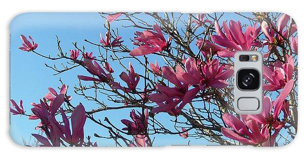 Purple Magnolias Galaxy Case