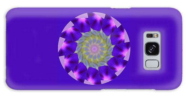 Purple Morning Glory Kaleidoscope Galaxy Case
