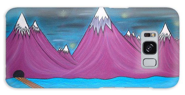 Purple Mountains Galaxy Case