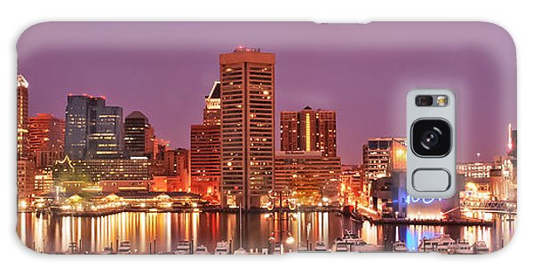 Purple Night In Baltimore Galaxy Case