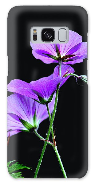 Purple On Black Galaxy Case by Diane Merkle