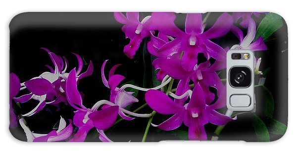 Purple Orchid Flower By Saribelle Rodriguez Galaxy Case