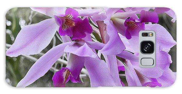 Purple Orchid Personality Galaxy Case