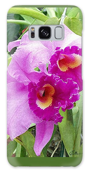Purple Cattleya Orchids Galaxy Case