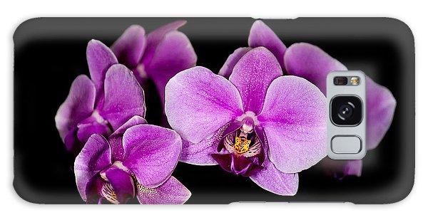 Purple Orchids Galaxy Case by Len Romanick