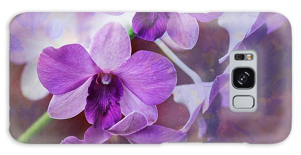 Purple Orchids Galaxy Case by Sally Simon