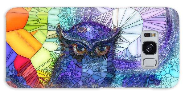 Owl Meditate Galaxy Case by Agata Lindquist