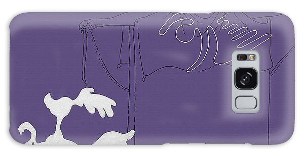 Purple Palm Springs Idyll Galaxy Case