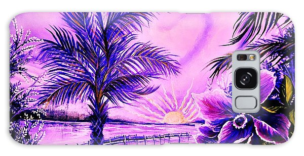 Purple Palm Galaxy Case by Yolanda Rodriguez