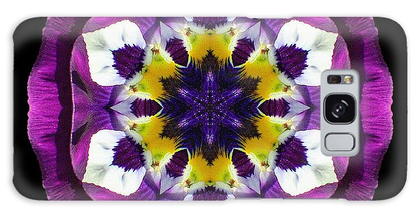 Purple Pansy II Flower Mandala Galaxy Case