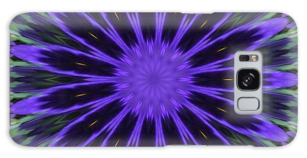 Purple Pansy Star Graphic Art Galaxy Case