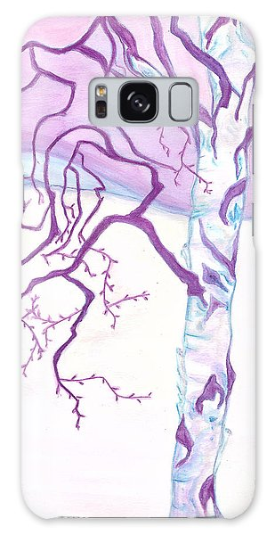 Purple Paper Birch Galaxy Case