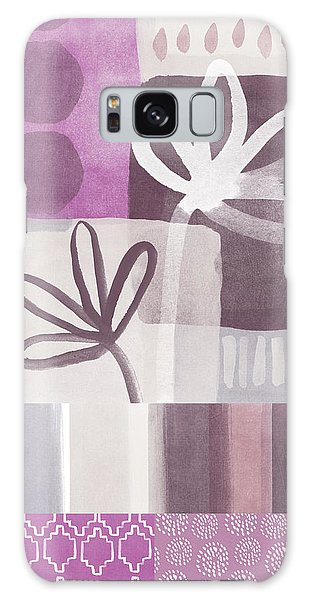 Purple Patchwork- Contemporary Art Galaxy Case by Linda Woods