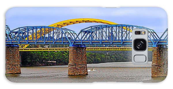 Purple People Bridge And Big Mac Bridge - Ohio River Cincinnati Galaxy Case
