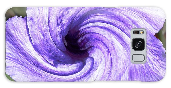 Purple Petunia Twirl Galaxy Case by Belinda Lee