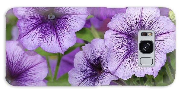 Purple Petunias Galaxy Case