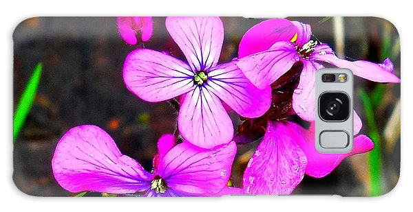 Purple Lunaria Galaxy Case