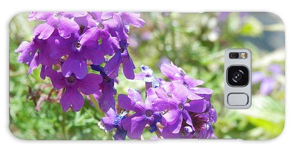 Purple Phlox Galaxy Case