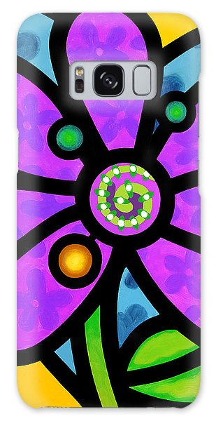 Purple Pinwheel Daisy Galaxy Case