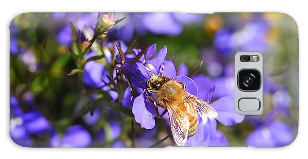 Purple Pollination  Galaxy Case by Crystal Hoeveler