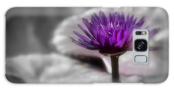 Purple Pond Lily Galaxy Case by Lynn Sprowl