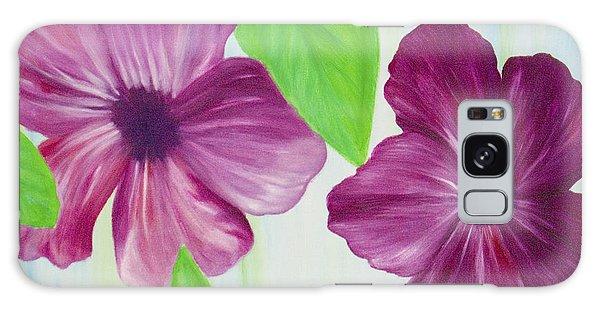 Purple Pop Flowers Galaxy Case