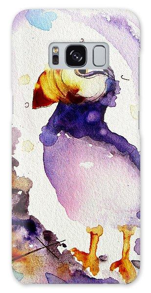 Purple Puffin Galaxy Case