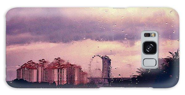 Galaxy Case featuring the photograph Purple Rain by Yen